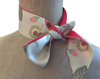 Woman scarf silk green red neck ideal chic Choker, bag strap scarf scarf