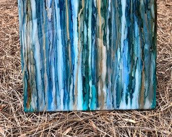 Handmade Trinket Tray/Centerpiece with Glossy Resin Finish