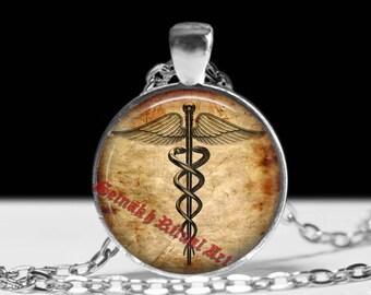 Caduceus talisman, Hermes Trismegistus wand pendant, occult jewelry, gnostic jewelry, magic amulet, esoteric, sacred jewelry #432