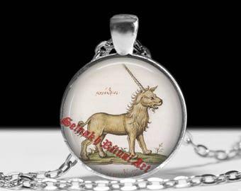 Unicorn necklace, Fantasy jewelry, Magick horse pendant #479