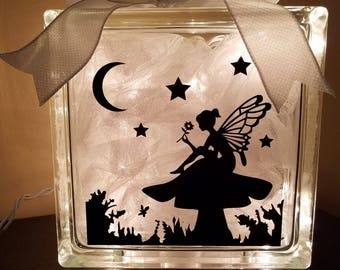 Magical Fairy Lighted Glass Block