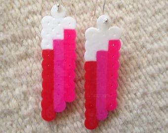 Red Rainbow Cloud Earrings