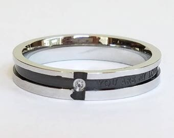 Mens Ring, Custom Ring, Personalized Ring, Titanium Ring
