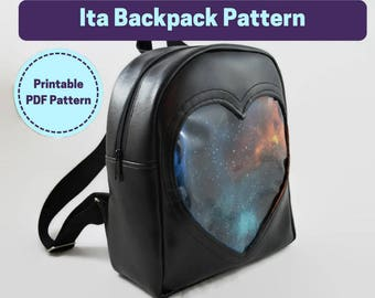 Ita Bag Sewing Pattern - Backpack Style - Downloadable PDF Sewing Pattern and Full Tutorial for a Backpack Style Ita Bag