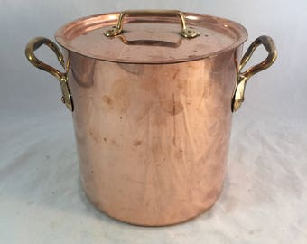 Vintage French Copper Stock Pot