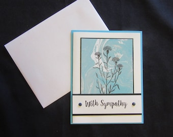 Hand Made Sympathy Card with Envelope Blank Inside Stampin' Up! Products
