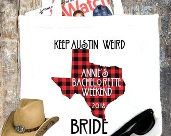 Texas Party Tote bag. Texas Bachelorette or Girls Weekend Totes! Dallas, Austin, Houston Girl's weekend Party Favor Bag.