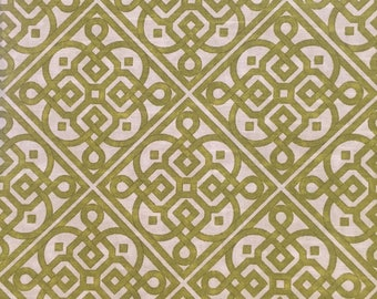 Green - Lace It Up - Upholstery Fabric by The Yard