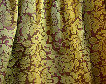 Designers Guild, Green and Purple Woven Silk, Curtain and Upholstery Fabric, From Jane Hall Design