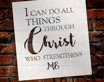 I Can Do All Things - Word Stencil - Select Size - STCL2114 - by StudioR12