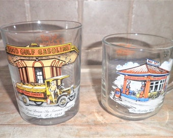 2 Vintage The Gulf Collectors Series drinking glasses