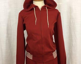Vintage Track Suit - Women's Jogging Outfit Pants Jacket - Retro Sportswear - 1970s 1980s