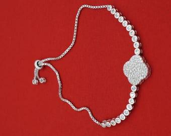 925 Sterling Silver Lariat Bracelet