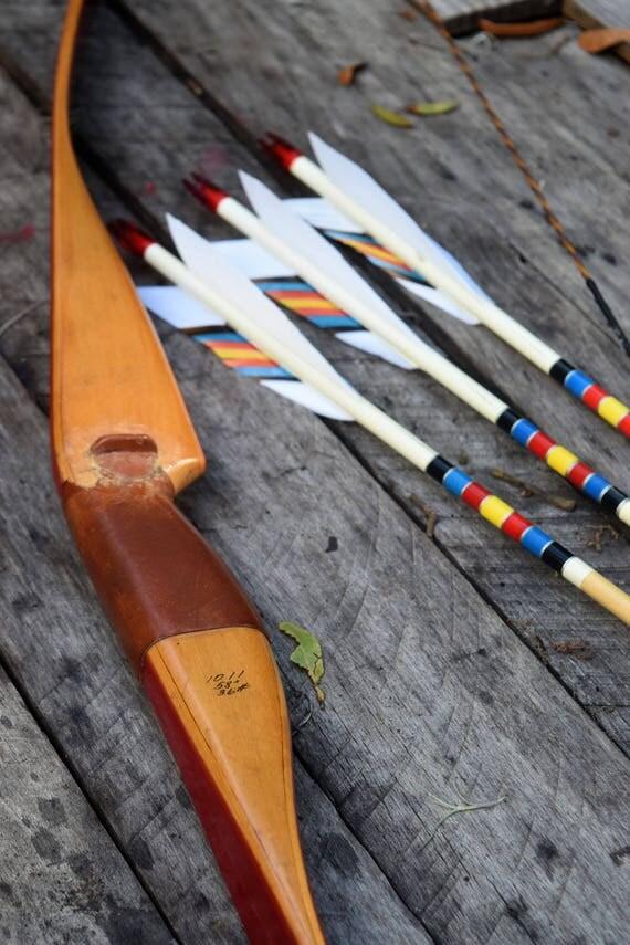 Archery Bow,Vintage Panda, 36# recurve bow RH