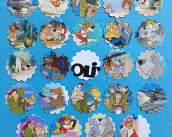 Oliver and Company Cupcake Toppers