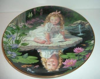 1991 Mondays Child by Elaine Ginilliat Danbury Mint Plate