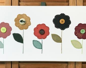 Garden Flowers #2 Fabric Wall Art