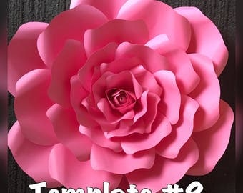 Template #8 Paper Flower DIY