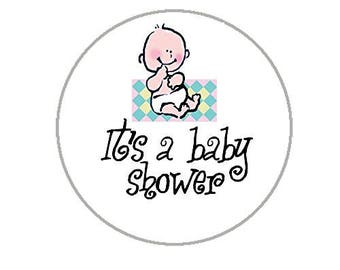 "Baby Shower Envelope Seals - 1.2"" Baby Shower Stickers - 144 Stickers - 25129"