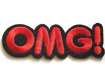 OMG Embroidered Patch Appliqué