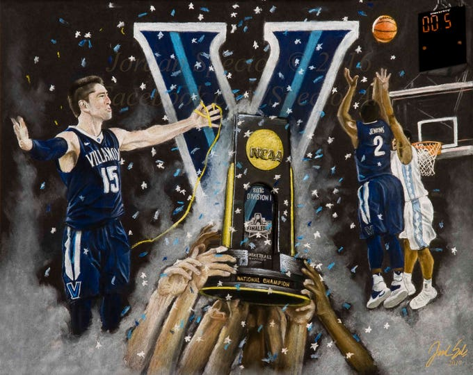 Villanova Mens Basketball 2016 National Champions - Fine Art Print