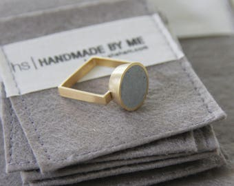 Soliter ring, Cone ring, Unique statement ring, Concrete style ring, Round shape ring, Contemporary ring, modern ring,  handcrafted ring