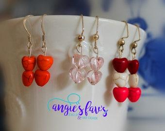 Dangle Earrings, Hearts