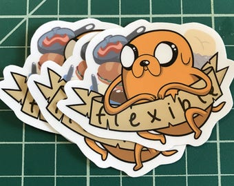 Jake the Dog Adventure Time Sticker