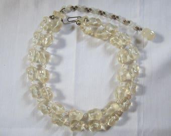 Retro Molded Plastic Necklace