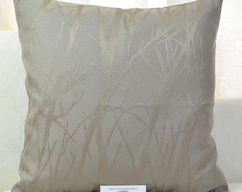 """Trees Mink & Gold Cushion Cover 17"""" x 17"""""""