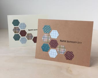 Happy Father's Day Card - Handmade Hexagon Greeting Card
