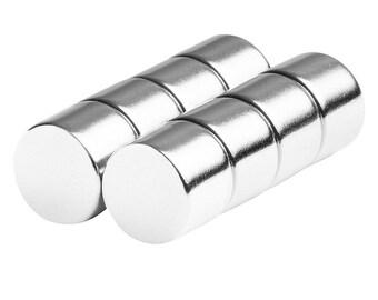 1/2 x 3/8 (0.50 x 0.375) Inch Neodymium Rare Earth Disc Magnets N42 (8 Pack)