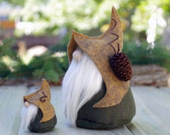 Set of Nordic Gnomes, MINI and Large Gnome, LORE, Scandinavian Gnome, Nordic Gnome, Elf, Elves, Miniature Gnomes, Swedish, Birthday Gifts