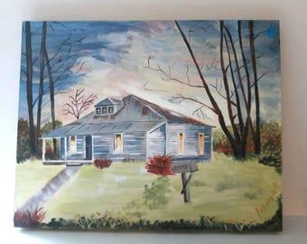 Art, landscape art on canvas