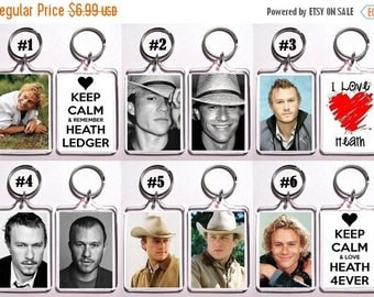 ON SALE NOW Heath Ledger Keychain Key Ring - Many Designs To Choose From