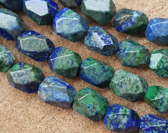 "Natural Gemstone Lapis Lazuli Pheonix 15~16mm x 10~12mm Beads, End Drilled - 15.5"" Strand"