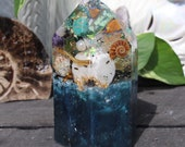 Orgonite® - Mermaid - Crystal Point - Orgone Generator® - Anxiety - Crystals - Handmade - EMF Protection - Quartz - Good Vibes - HoodXHippie