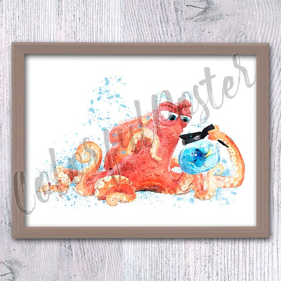 Finding Dory Finding Nemo Wall art Hank and Dory Dory