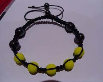 neon yellow bracelet