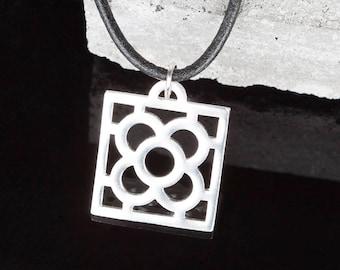 Sterling Silver Barcelona Flower Necklace