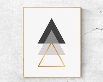 Scandinavian Print, Geometric Print, Minimalist Art, Wall Art Prints, Large Wall Art, Printable Wall Art, Poster Print, Abstract Print