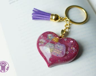 Cute Owls Glittery Key Chain