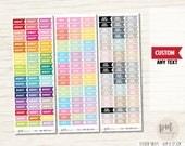 CUSTOM Mini Word 7mm Flag Stickers - Planner Stickers - FL02