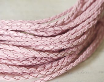 Cord braided faux leather - sold by the yard