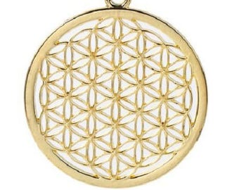 Great charm flower of life brass 44mm