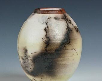 Horse Hair Raku Pottery, Terra Sigallata, Red, White, Black, Polished, Wheel Thrown, Hand Thrown,