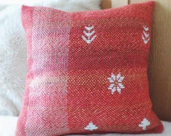 Handwoven fair isle cushion