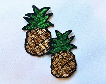 Pineapple Sequin Pasties / Nipple Cover / Laughing with Tears for Rave / Music Festival