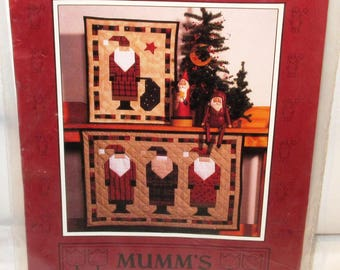 Free Ship U.S.A OLD ST. NICK Quilts Pattern By Mumm's The Word Debbie Saint Nicholas 3 Santa Claus Directions Speedy Square Triangle Method