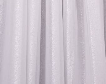 White Stretch Mesh Glissenette Fabric Spandex